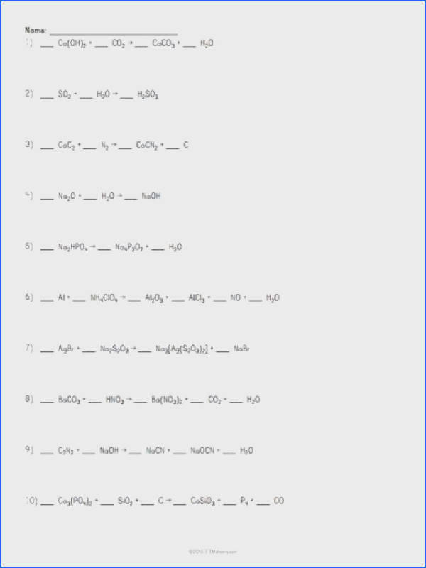 Printables 1000 Unbalanced Chemical Equation 1000 images about atoms on pinterest activities chemistry balancing chemical equations
