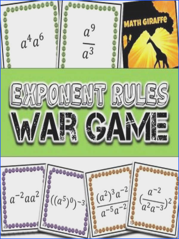 Basic Exponent Rules War Game one variable