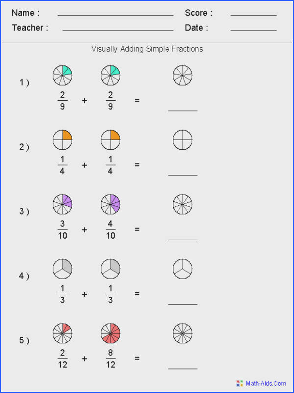 Basic Fraction Worksheets For 3Rd Grade
