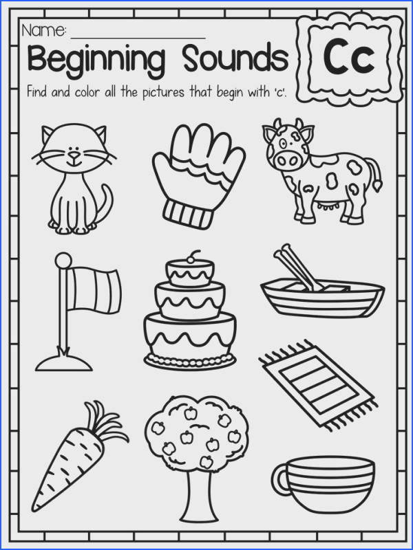 Beginning Sounds Worksheet Letter C These Beginning Sounds Worksheets are a great way for