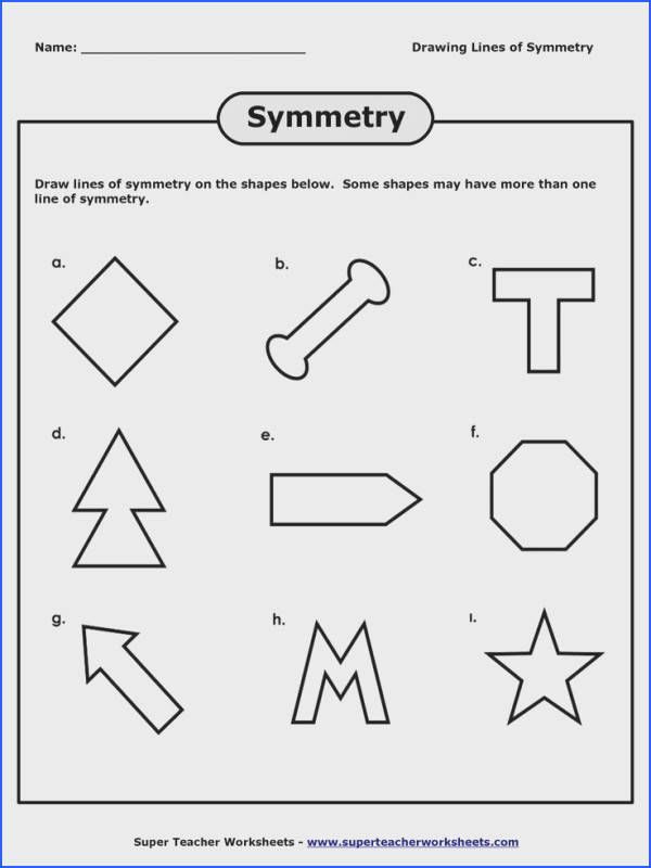 Lines Of Symmetry Worksheet | Mychaume.com