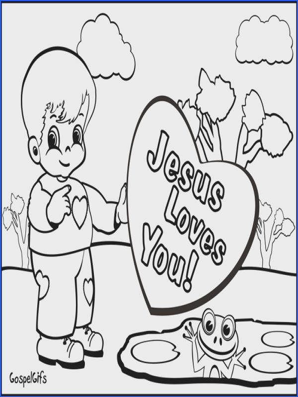 High Resolution Coloring Free Christian Coloring Pages For Kids For Free Christian Valentine Picture For Children To Color Colouring