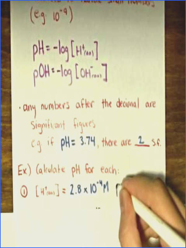 Calculating pH and pOH Examples 1