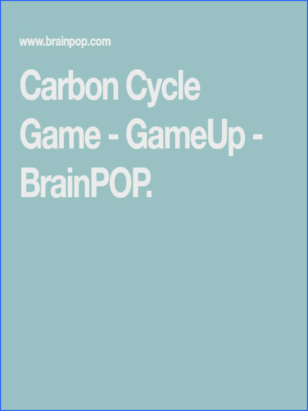 In this free online science game students control the carbon cycle to see its effects on photosynthesis water and the Earth s atmosphere
