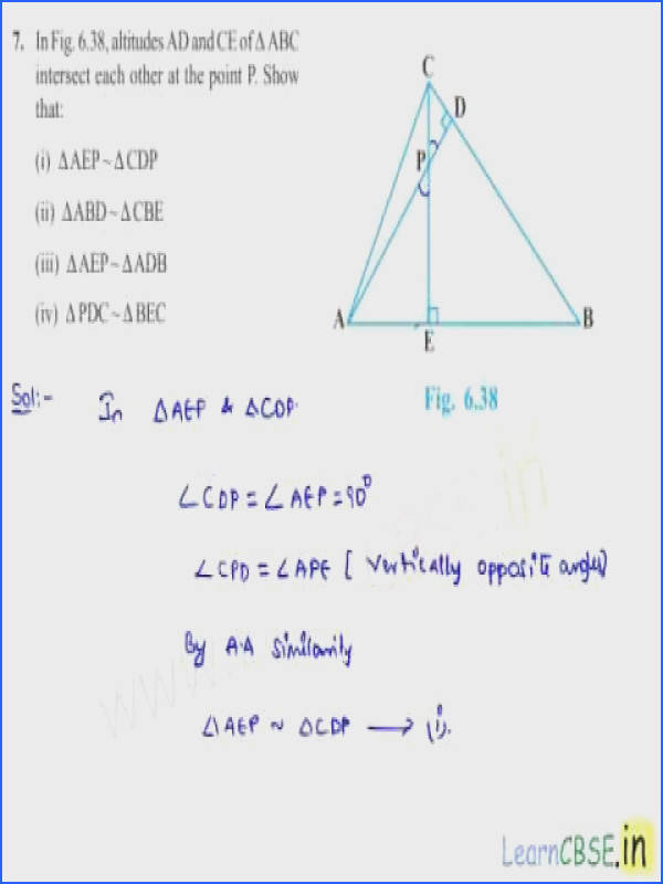 CBSE class 10 maths NCERT Solutions chapter 6 Triangles Ex 6 3