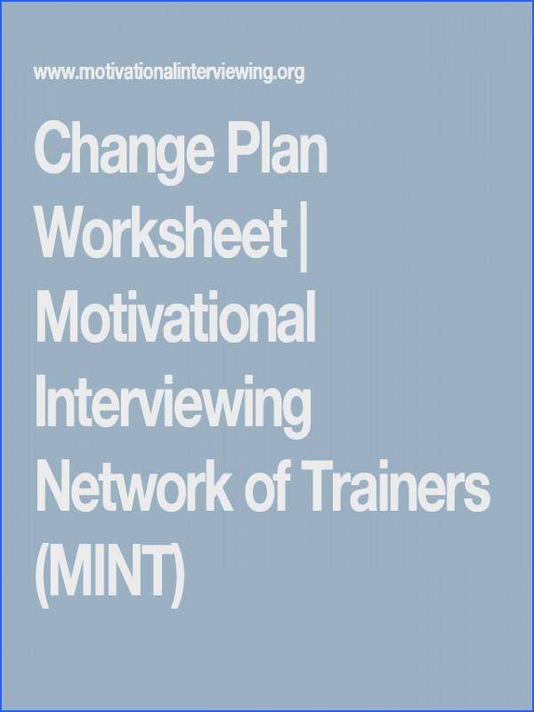 Change Plan Worksheet