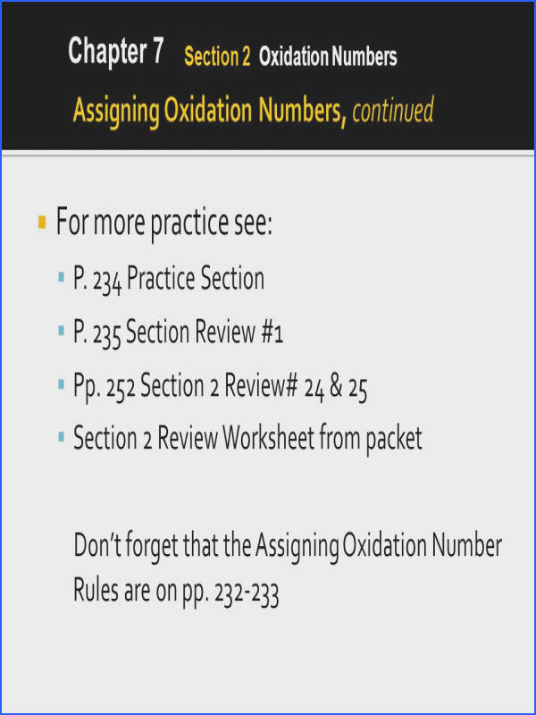 Oxidation Numbers Worksheet Mychaume. Chapter 7 It Is Possible To Determine The Charge Of An Ion In From Oxidation Numbers Worksheet Source Slideplayer. Worksheet. 20 2 Oxidation Numbers Worksheet Answers At Clickcart.co