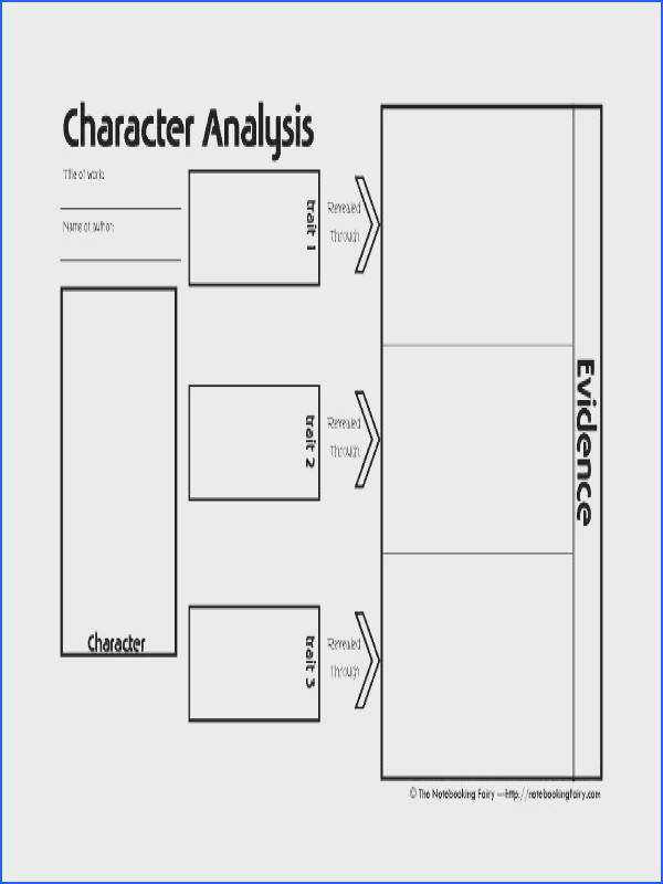 Character Analysis & Transformation Notebooking Page The site has other notebooking templates as well