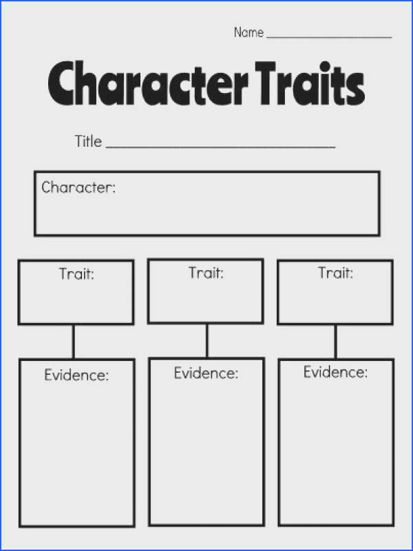 Character Trait Analysis for Guided Reading Classroom ideas Pinterest