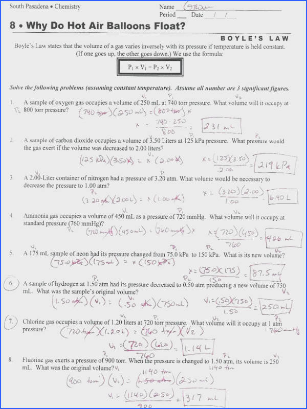Boyles Law Worksheet Answers Boyles Law Worksheet For Perfect Boyles Law Worksheet Answers A