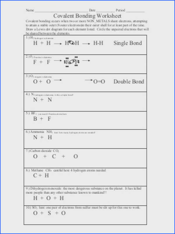 covalent bonding worksheet colina middle school · covalent bonding worksheet answers accafkenya