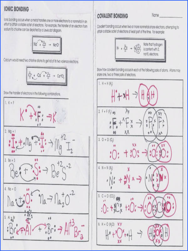 Covalent Bonding Worksheet Answer Key Covalent pounds Worksheet Chemistry If8766 Page 40 Covalent
