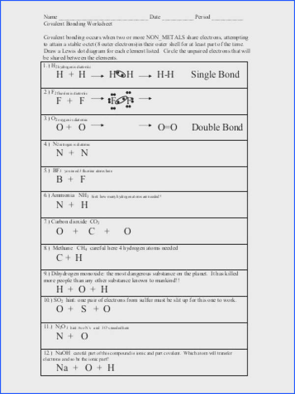 chemical bonding worksheet answers chemical bonding worksheet free worksheets library and ideas