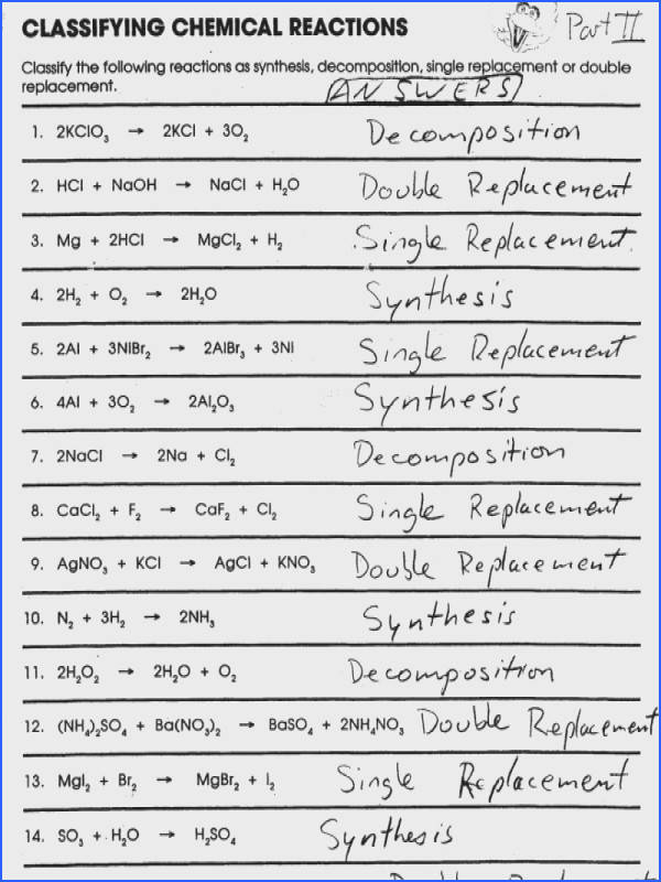 Types Of Chemical Reactions Worksheet Mychaume. Types Of Chemical Reactions Worksheet. Worksheet. Chemical Reactions Worksheet At Clickcart.co