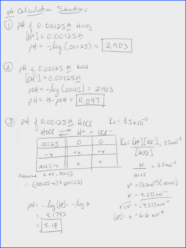 Chemistry Ph And Poh Calculations Worksheet Worksheets for all Download and Worksheets