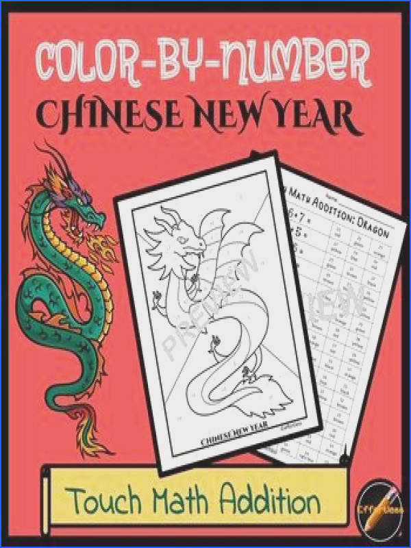 Practice and review Touch Math Single Digit Addition in a fun way by Celebrating Chinese New