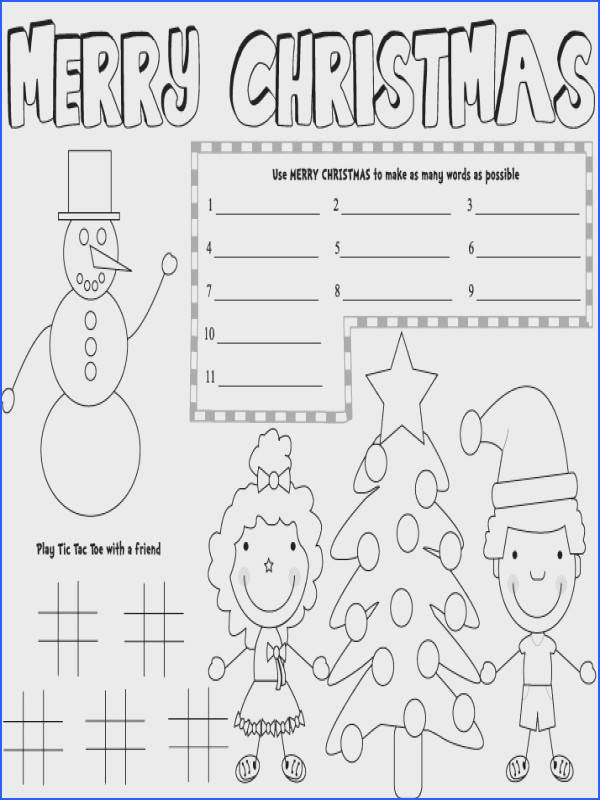 christmas placemats free printable christmas games kids placemats printable christmas decorations