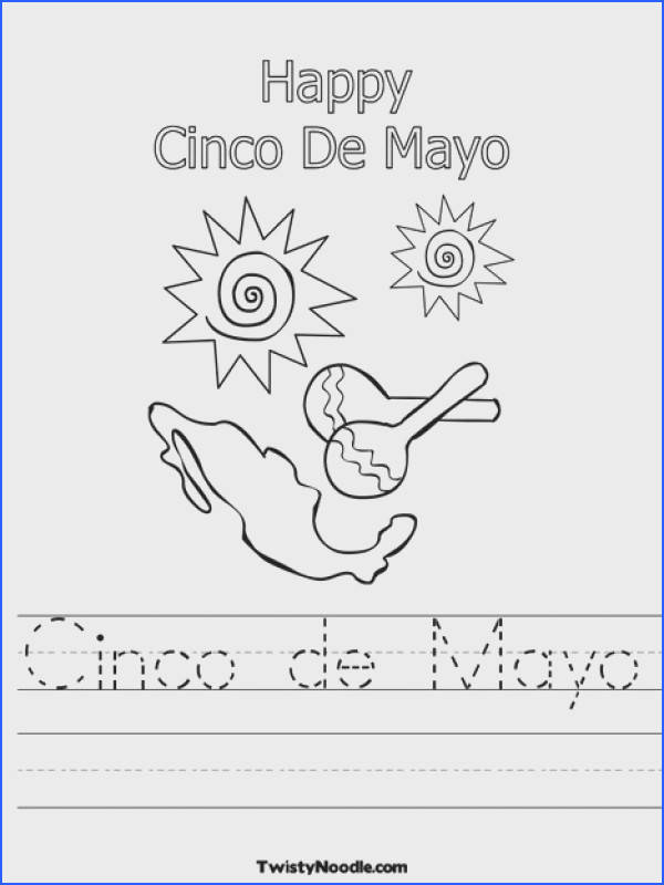 Cinco de Mayo Worksheet from TwistyNoodle