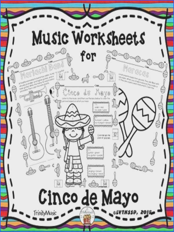 Cinco de Mayo Themed Music Worksheets Cinco de Mayo Themed Music Worksheets