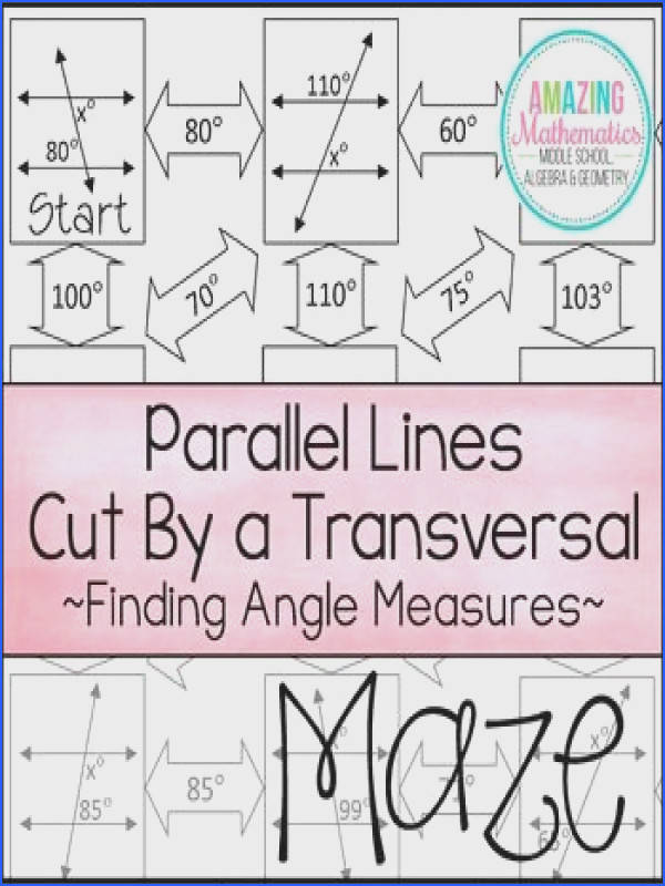 Closeup of my parallel lines cut by a transversal Math Geometry Tools Pinterest