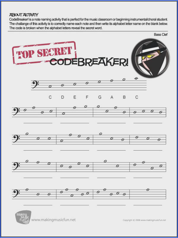 FREE Bass Clef Note Name Worksheet makingmusicfun