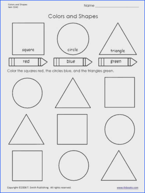 Colors and Shapes worksheet from tlsbooks