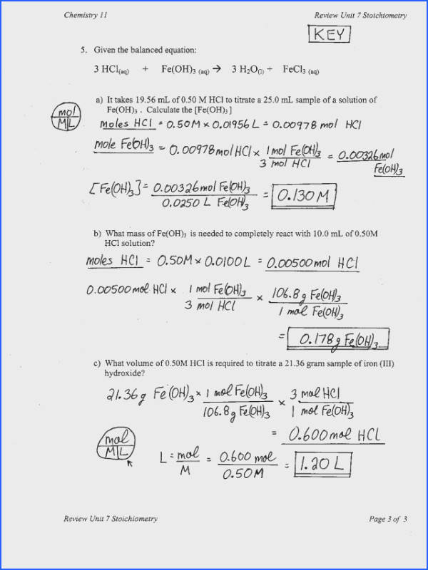 Concentration Calculations Worksheet Worksheets for all Download and Worksheets