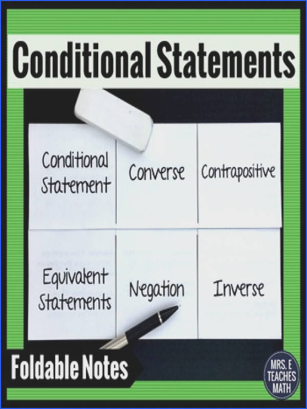 Conditional Statements Interactive Foldable