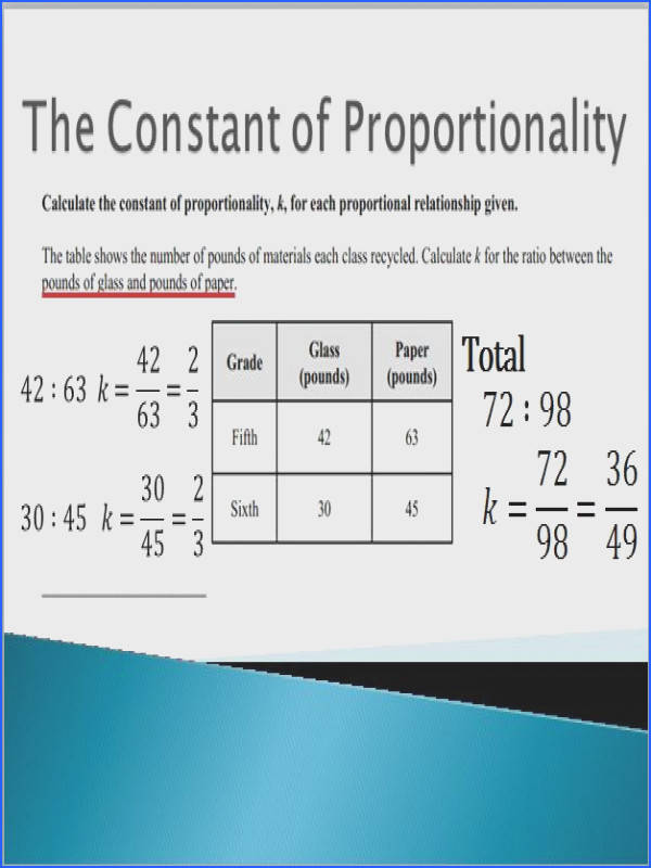 Constant Proportionality Word Problems Worksheet