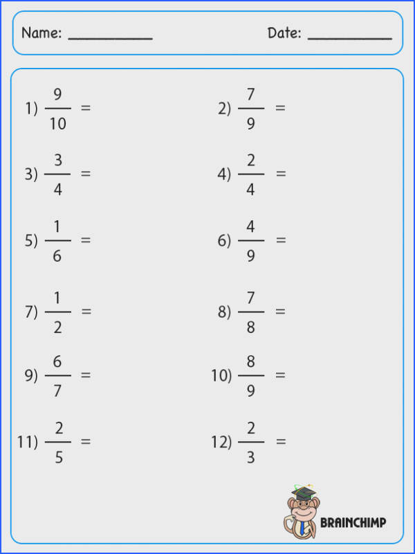 Worksheet Converting Fractions To Decimals Worksheets for all Download and Worksheets