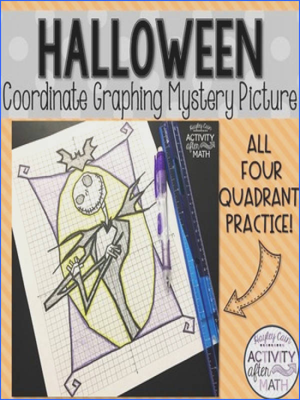 Halloween Math Skeleton Coordinate Graphing Mystery Picture
