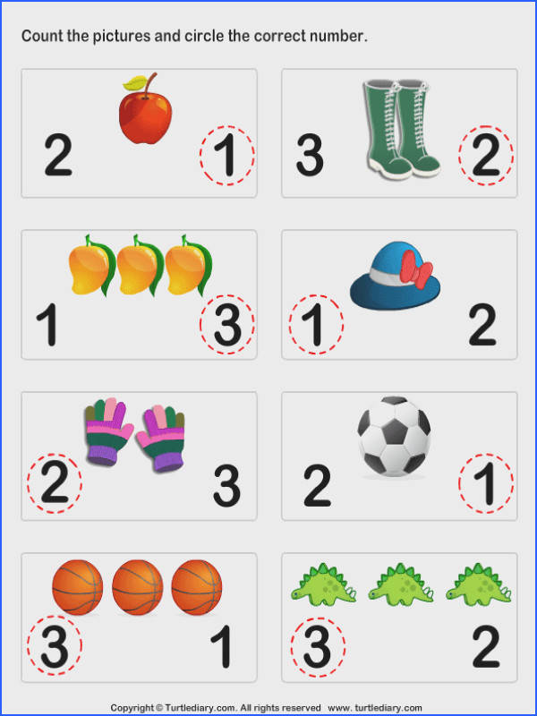 Count and Circle Worksheet