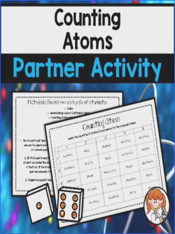 Are you looking for a fun way to have your students review counting atoms Your