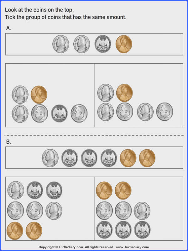 Equivalent Amount with Mixed Coins