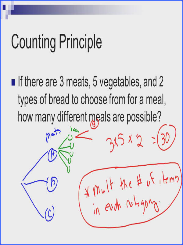 Counting Principle WorksheetPermutations And binations Worksheet With Answers Worksheets