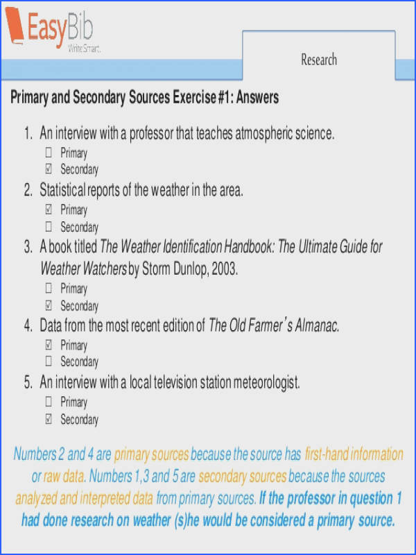 Primary  Secondary 11 Research Primary and Secondary Sources