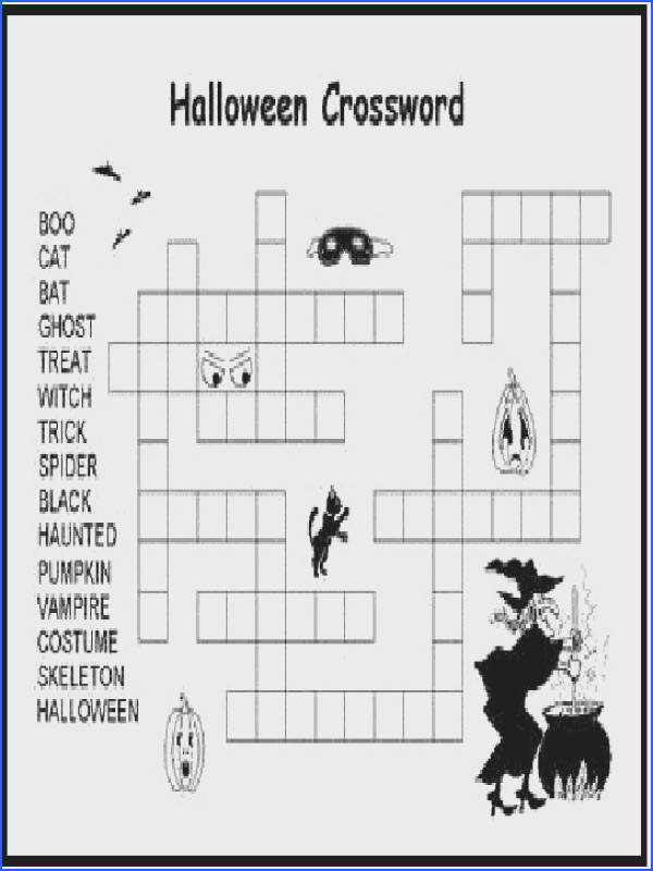 crossword halloween puzzles by kawarbir
