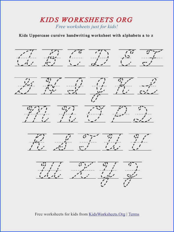 Cursive Alphabet Worksheets Free Printable Worksheets for all Download and Worksheets