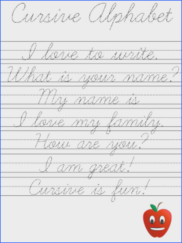 Cursive Handwriting Worksheets Tracing Worksheets for all Download and Worksheets