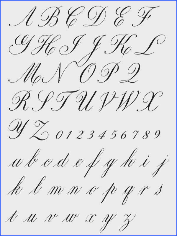 Exemplars english roundhand copperplate