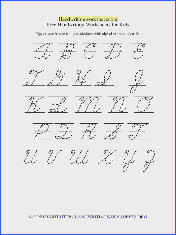 Cursive Uppercase Handwriting Worksheet O