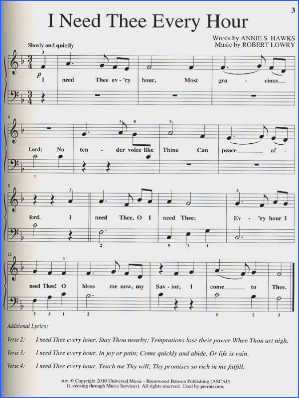 Sheet music for piano David Thibodeaux My First Piano Book Hymns Volume 2 Piano Score