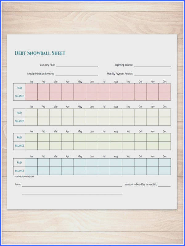Debt Snowball Sheet and Debt Payoff Plan Printable BUNDLE