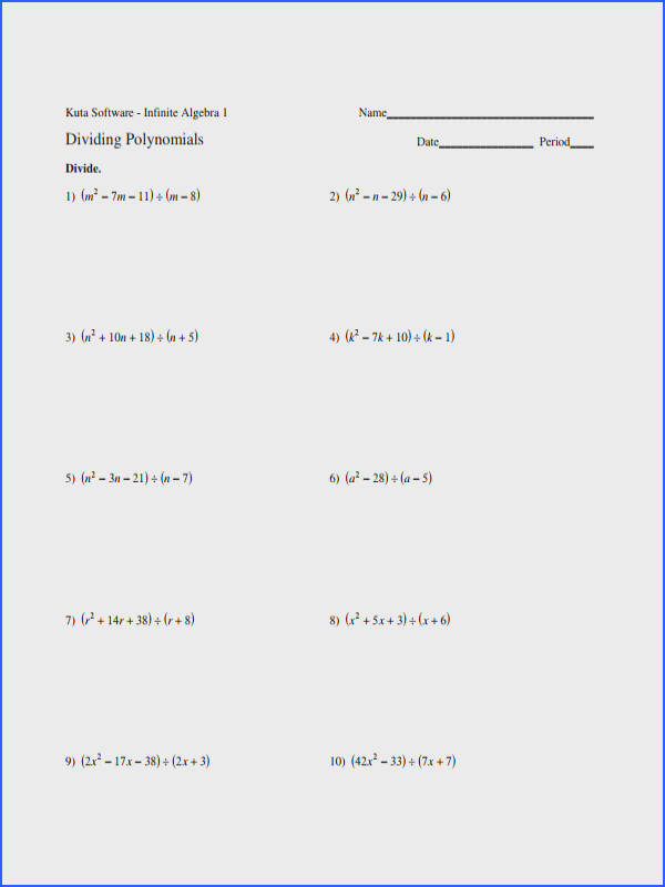 Multiplying A Polynomial By A Monomial Worksheet Switchconf