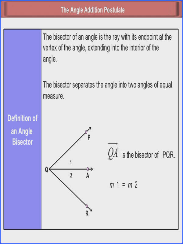 Angle addition postulate worksheet & Parallel Perpendicular