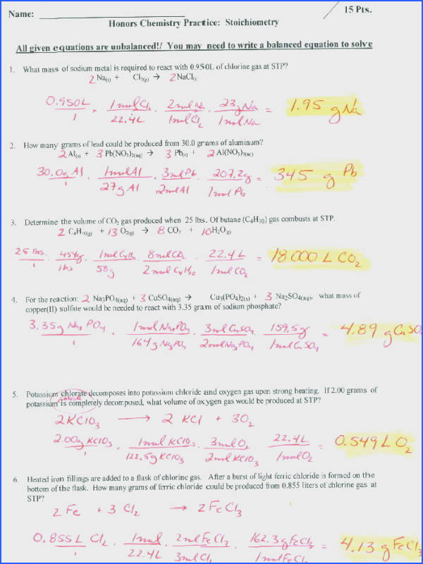 Density Calculations Worksheet Answer Key New Stoichiometry Worksheet 4 Free Worksheets Library s Density Calculations