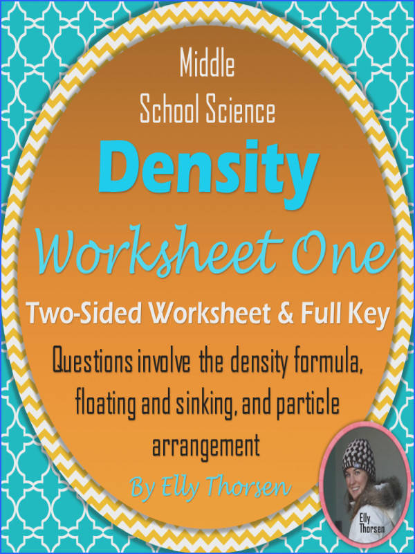 Density Worksheet e A Science Measurement Resource