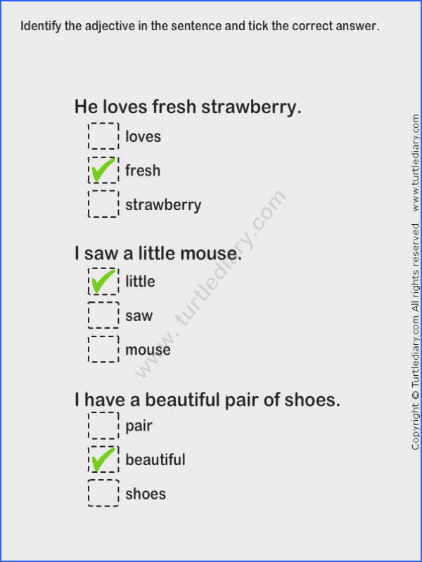Describing Words Worksheet24 esl efl Worksheets grade 1 Worksheets