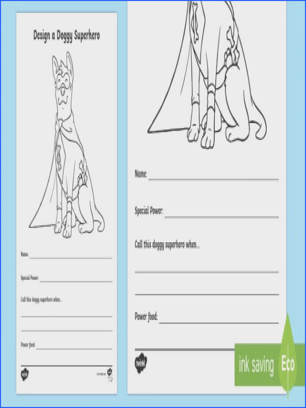 Design a Doggy Superhero Worksheet Activity Sheet Home Education Requests paw patrol