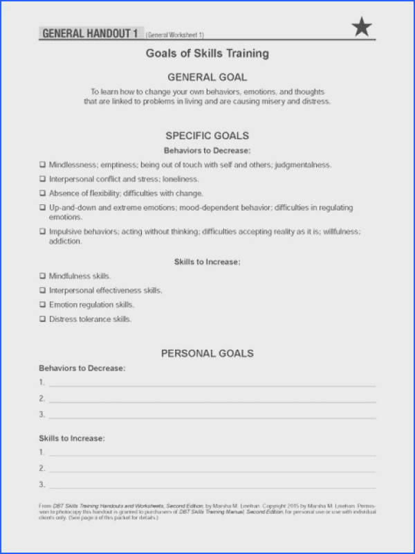 dbt therapy worksheets pdf Google Search